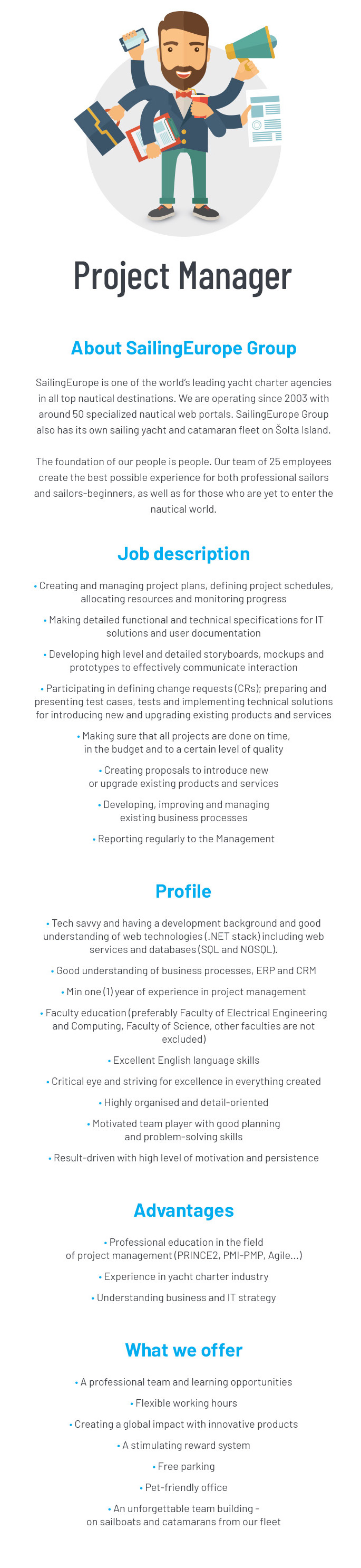 SailingEurope Jobs - Project Manager