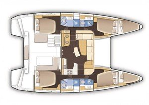 Rent a six cabins catamarans